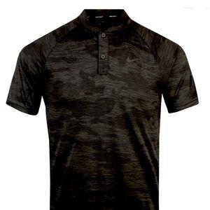 Nike Zonal Cooling Black camo golf shirt size XL